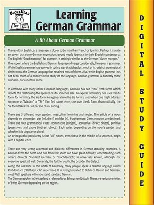 cover image of German Grammar ( Blokehead Easy Study Guide)
