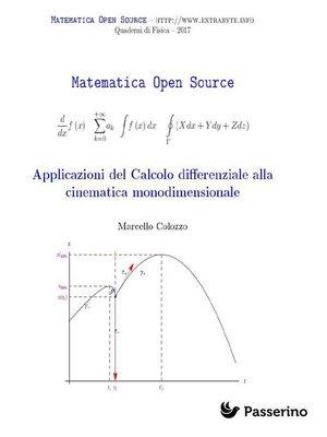 cover image of Applicazioni del Calcolo differenziale alla cinematica monodimensionale
