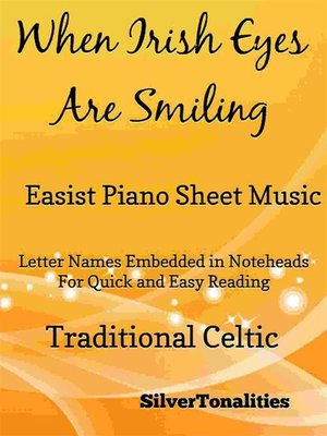 cover image of When Irish Eyes Are Smiling Easiest Piano Sheet Music