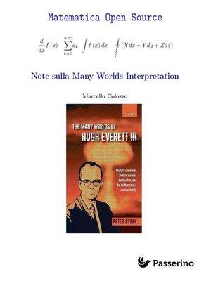 cover image of Note sulla Many Worlds Interpretation