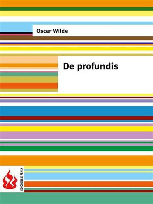 cover image of De profundis (Low cost)
