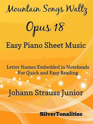 cover image of Mountain Songs Waltz Opus 18 Easy Piano Sheet Music
