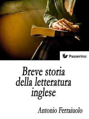 cover image of Breve storia della letteratura inglese