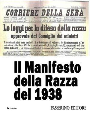 cover image of Il Manifesto della Razza del 1938