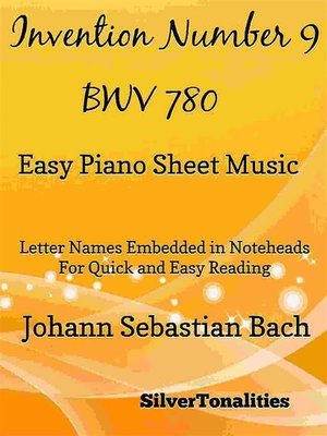 cover image of Invention Number 9 BWV 780 Easy Piano Sheet Music
