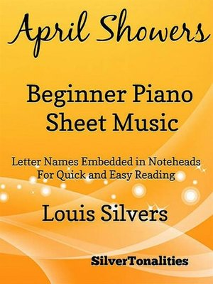 cover image of April Showers Beginner Piano Sheet Music