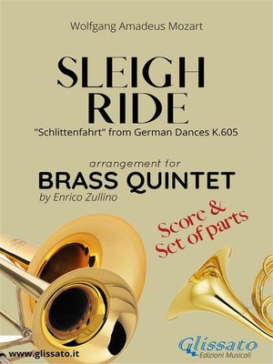 cover image of Sleigh Ride--Brass Quintet score & parts