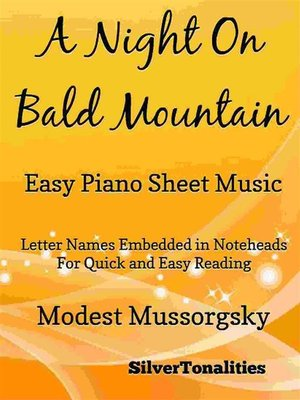 cover image of A Night on Bald Mountain Easy Piano Sheet Music