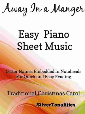 cover image of Away In a Manger Easy Piano Sheet Music
