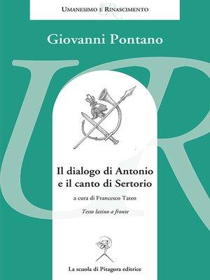 cover image of Il dialogo di Antonio e il canto di Sertorio