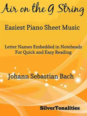 cover image of Air on the G String Easiest Piano Sheet Music