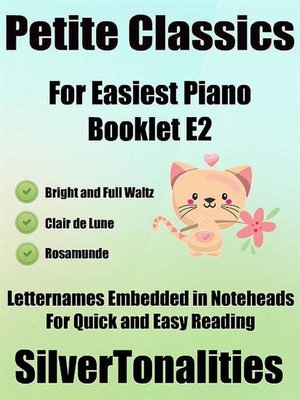 cover image of Petite Classics for Easiest Piano Booklet E2