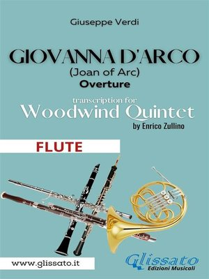 cover image of Giovanna d'Arco--Woodwind Quintet (FLUTE)