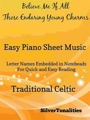 cover image of Believe Me If All Those Endearing Young Charms Easy Piano Sheet Music