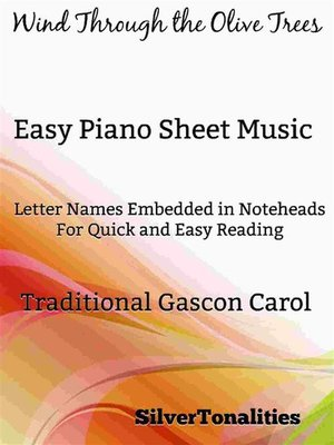 cover image of Wind Through the Olive Trees Easy Piano Sheet Music