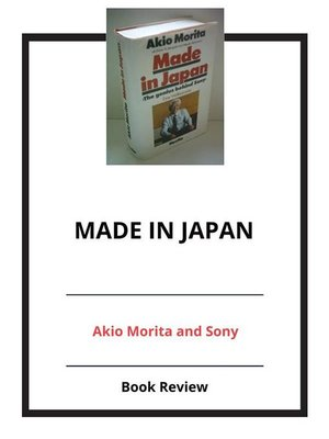 cover image of Made In Japan