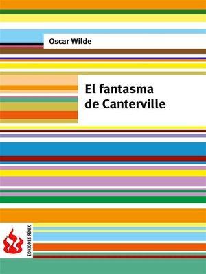 cover image of El fantasma de Canterville (low cost). Edición limitada