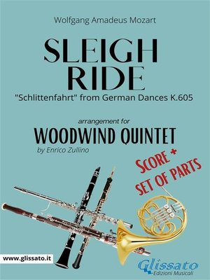 cover image of Sleigh Ride--Woodwind Quintet score & parts