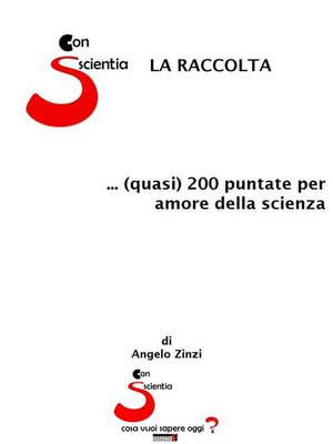 cover image of Con-Scientia. La raccolta