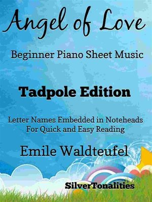 cover image of Angel of Love Beginner Piano Sheet Music Tadpole Edition