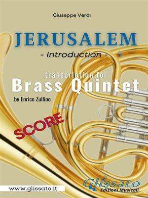 cover image of Jerusalem--Brass Quintet (score)