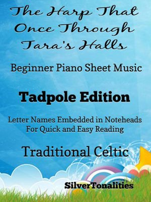 cover image of Traditional Irish Folk Song for Beginner Piano Tadpole Edition