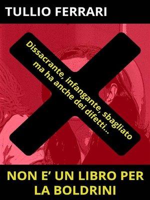 cover image of Non è un libro per la Boldrini