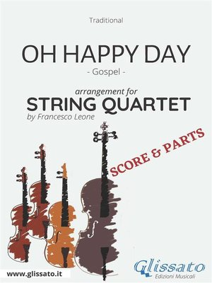 cover image of Oh Happy Day--String Quartet score & parts