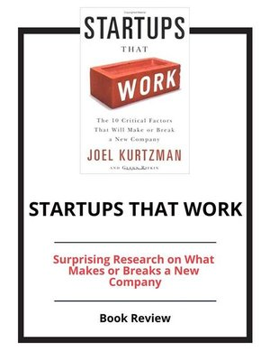 cover image of Startups That Work