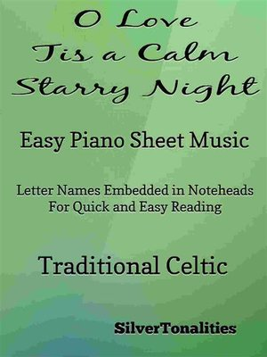 cover image of O Love Tis a Calm Starry Night Easy Piano Sheet Music