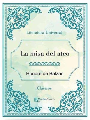 cover image of La misa del ateo