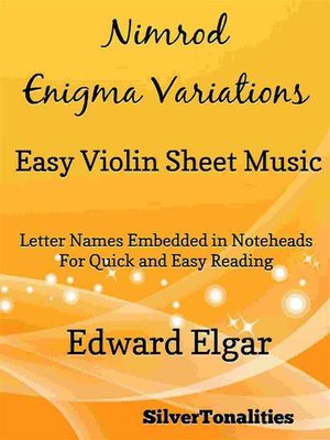 cover image of Nimrod Enigma Variations Easy Violin Sheet Music