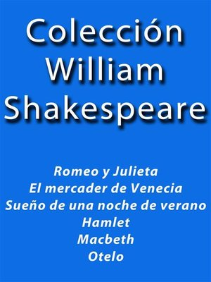 cover image of Colección William Shakespeare