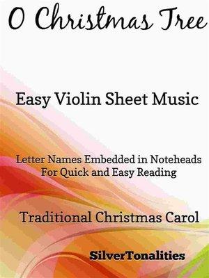 cover image of O Christmas Tree Easy Violin Sheet Music