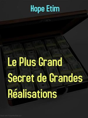 cover image of Le Plus Grand Secret de Grandes Réalisations