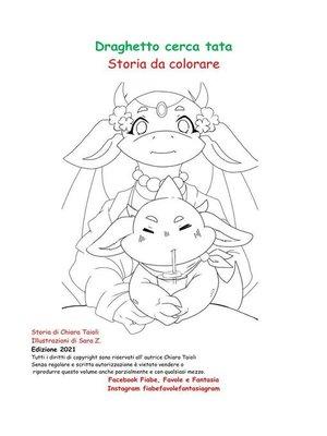 cover image of Storia  da colorare Draghetto