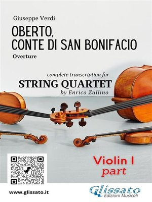 cover image of Oberto,Conte di San Bonifacio (overture) String Quartet--Set of parts