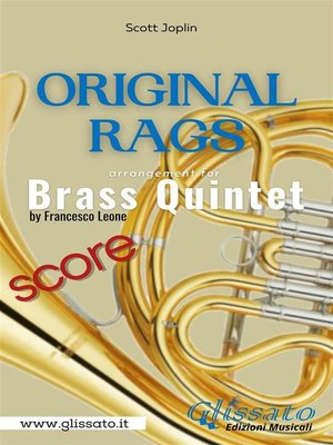 cover image of Original Rags--Brass Quintet (score)
