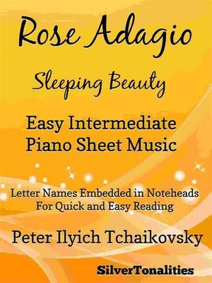 cover image of Rose Adagio Sleeping Beauty Easy Intermediate Piano Sheet Music