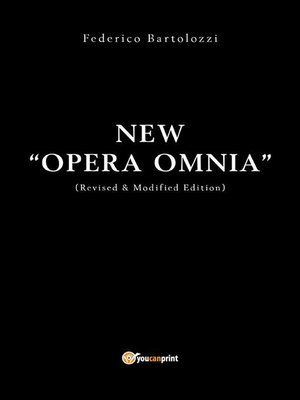 "cover image of New ""OPERA OMNIA"""