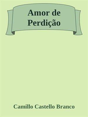 cover image of Amor de Perdição