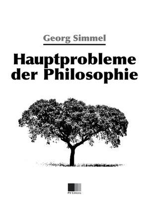 cover image of Hauptprobleme der Philosophie