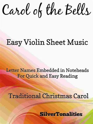 cover image of Carol of the Bells Easy Violin Sheet Music