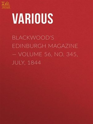 cover image of Blackwood's Edinburgh Magazine II