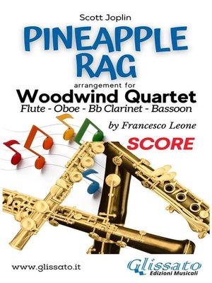 cover image of Pineapple Rag--Woodwind Quartet (score)