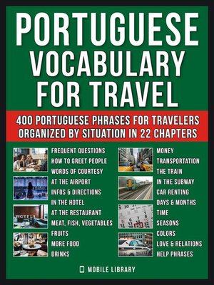 cover image of Portuguese Vocabulary for Travel