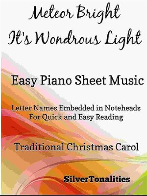 cover image of A Meteor Bright It's Wondrous Light Easy Piano Sheet Music