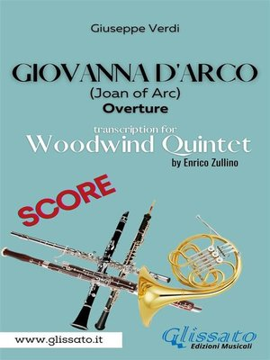 cover image of Giovanna d'Arco--Woodwind Quintet (SCORE)