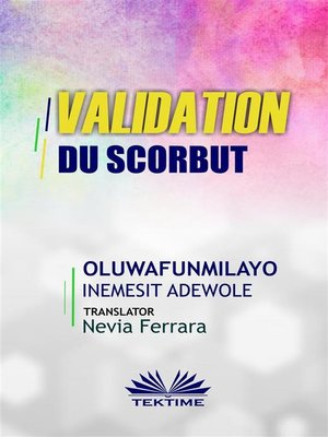 cover image of Validation Du Scorbut