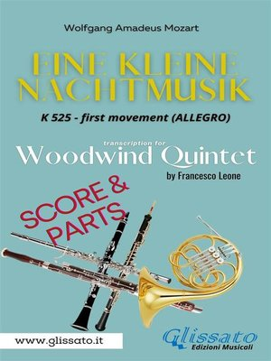 """cover image of Allegro from """"Eine Kleine Nachtmusik"""" for Woodwind Quintet (score & parts)"""